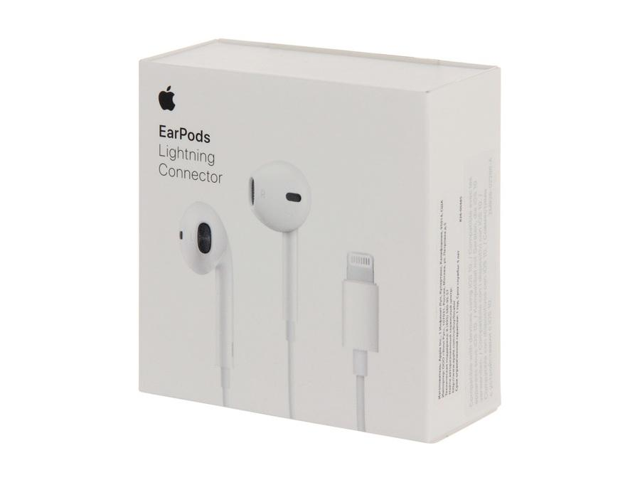 Наушники Apple EarPods с штекером Lighting