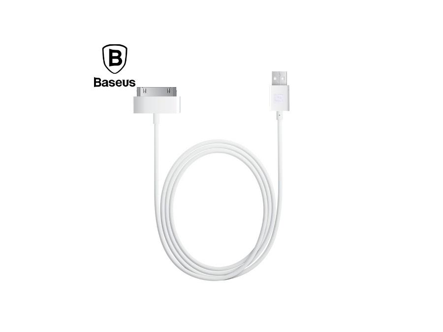 Кабель 30-Pin Baseus Bold Apple Data Cable 1.2M (Белый)