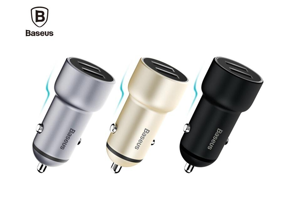 АЗУ Baseus Little Giant Metal Power Car Charger 3.4A